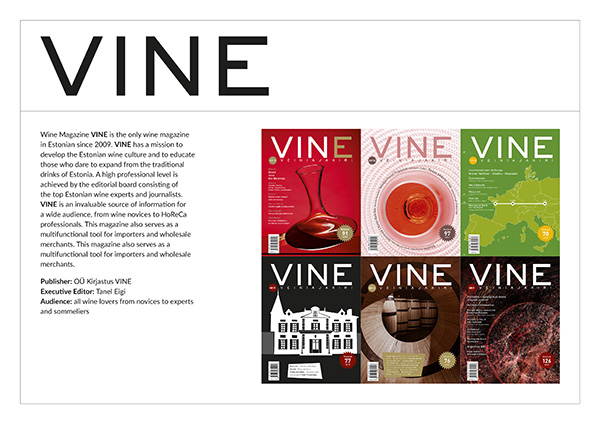 Wine magazine VINE media card